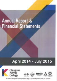 Report and Financial Statements for the period August 2013 - March 2014 for Glasgow Kelvin College