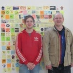 Kenny Berrie and Scott Lang are pictured here with one section of the intriguing, and very funny, exhibition.
