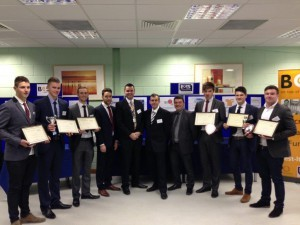 The proud students and their tutors are pictured here with their certificates