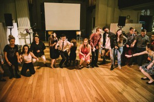 Several of the young people performing a rehearsed piece (photo courtesy of Stillmotion.)