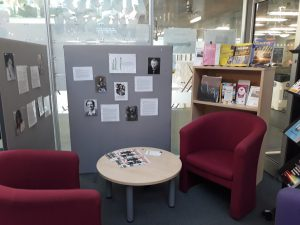 display area at library