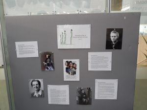 display of women at library