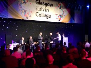 student presented with award