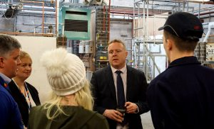 Staff and students at Scottish Apprenticeship Week