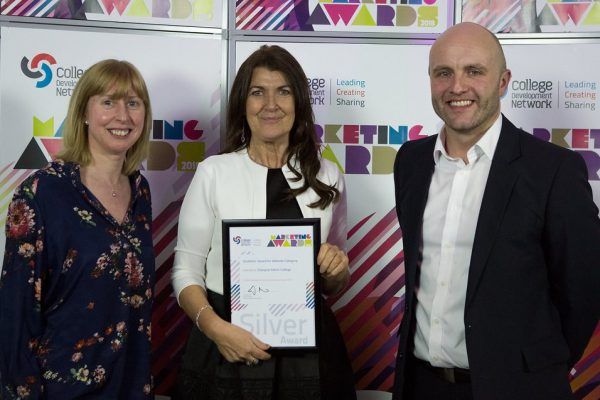 staff with silver marketing award