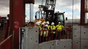 Foundation Apprentices looking round site