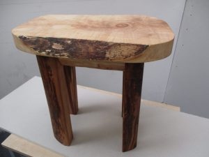 side view of handmade table