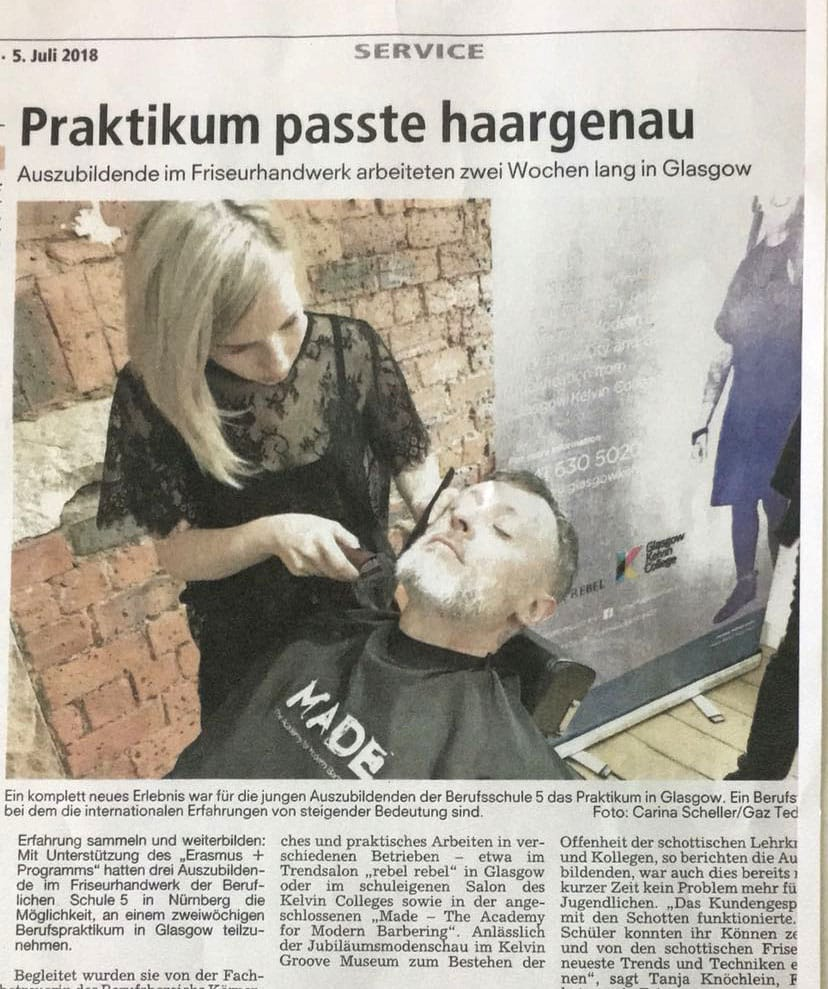College Barbering Programme Cuts It In Nuremberg