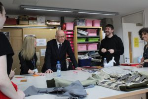 Innovation Centre Launch John Swinney with students