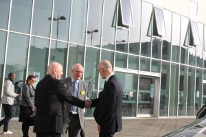 Innovation Centre Launch John Swinney with Alan Sherry