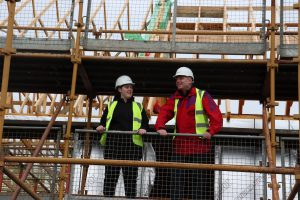 Foundation Apprentice Sophie Findlay with Alastair McGhee