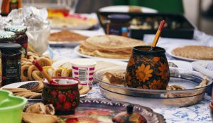 Maslenitsa - food and table decorations