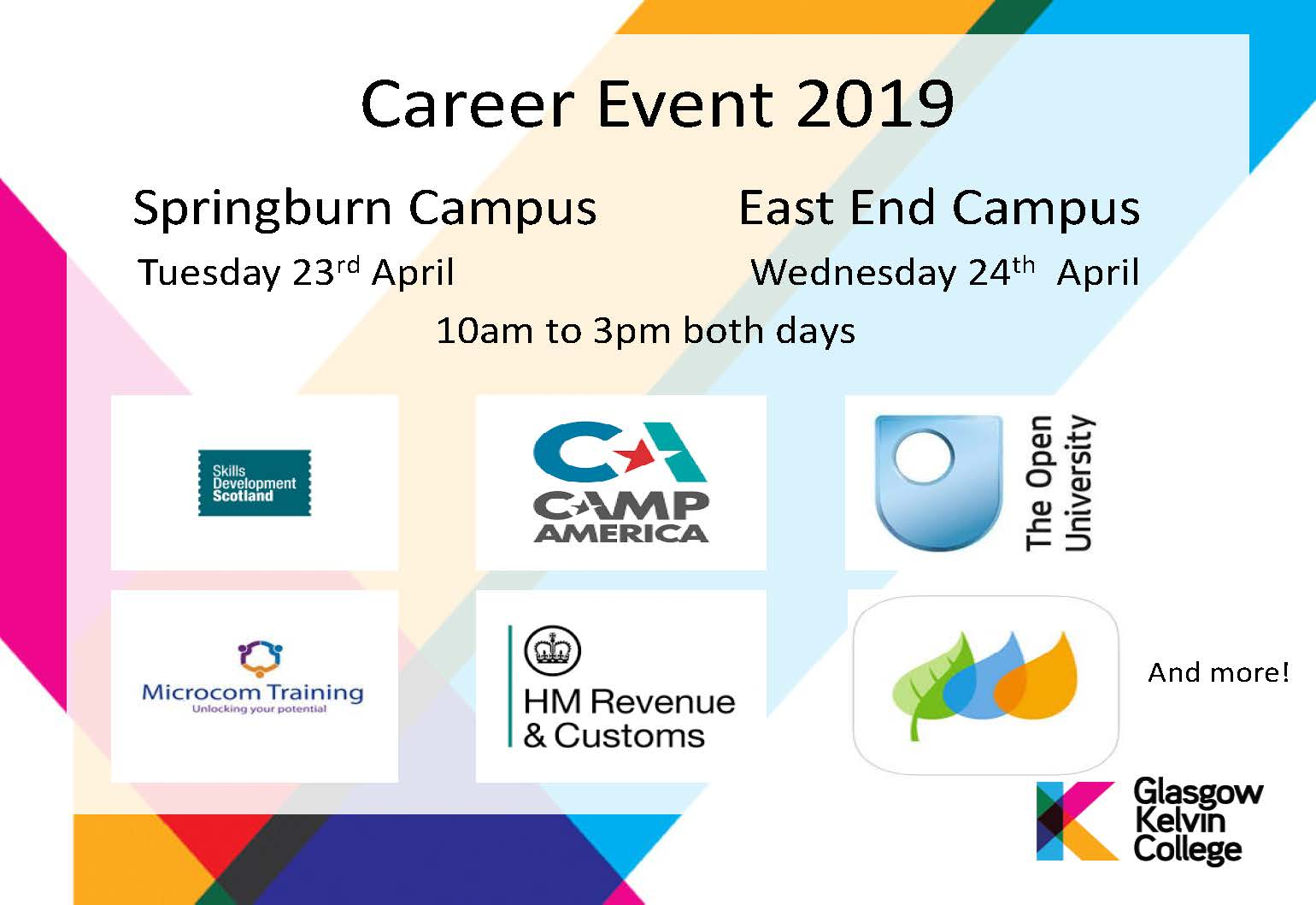 Poster for Careers event