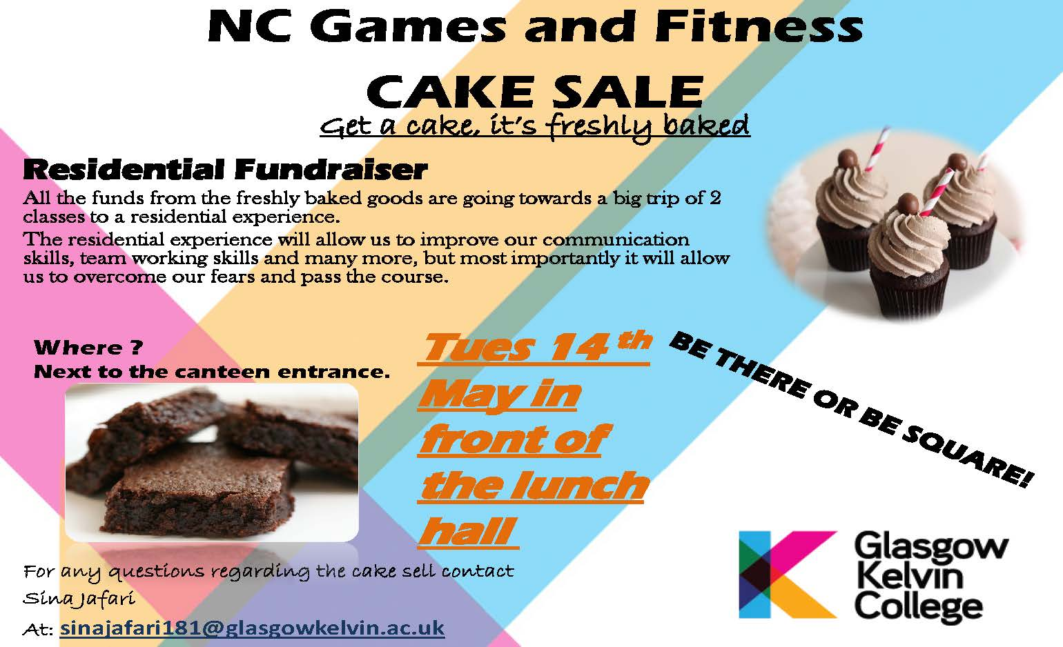 NC Games and Fitness Fundraiser Poster