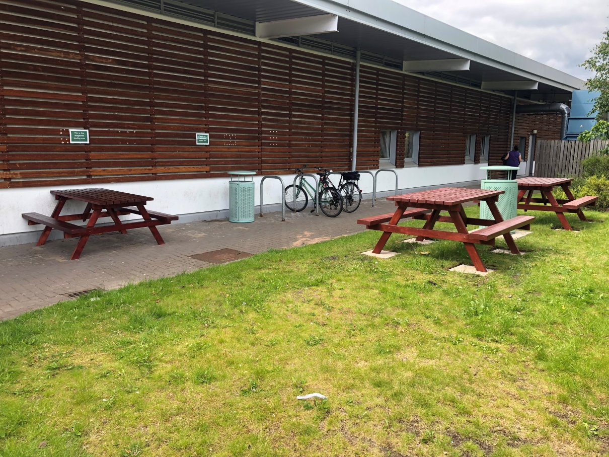 Benches created by EVIP students
