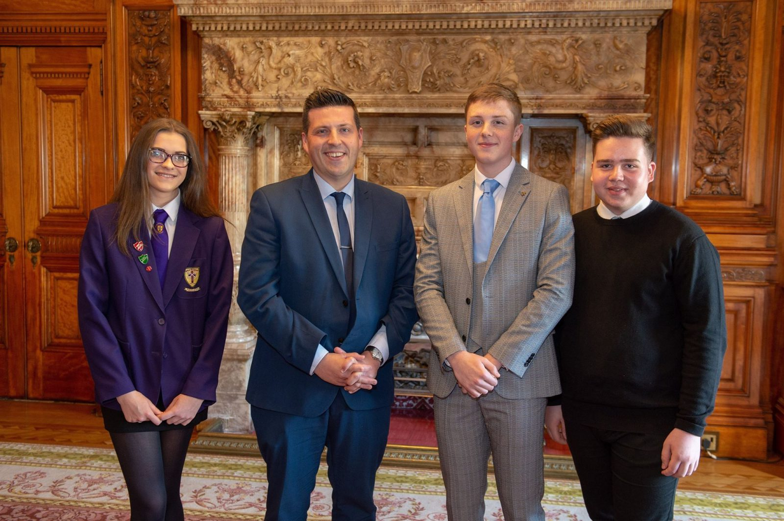 Jamie Hepburn MSP with Foundation Apprentices