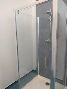 Showers in West End Campus Changing Rooms