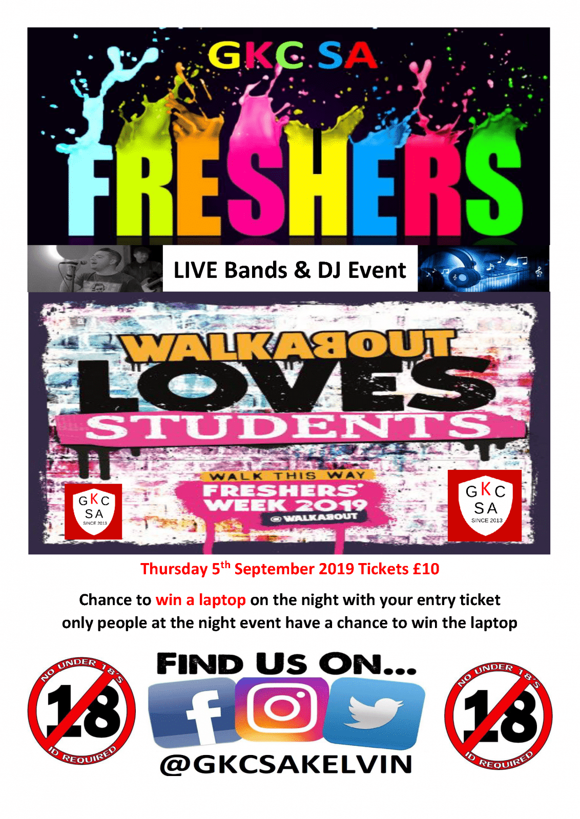 Freshers event poster