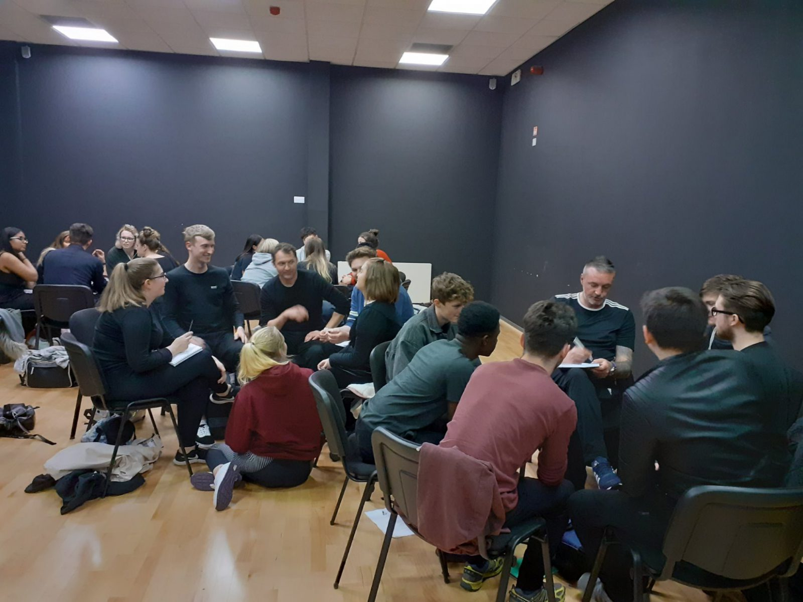 Students involved in discussion groups