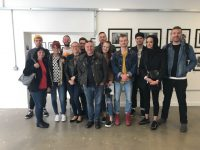 Group shot of students at David Pratt Exhibition