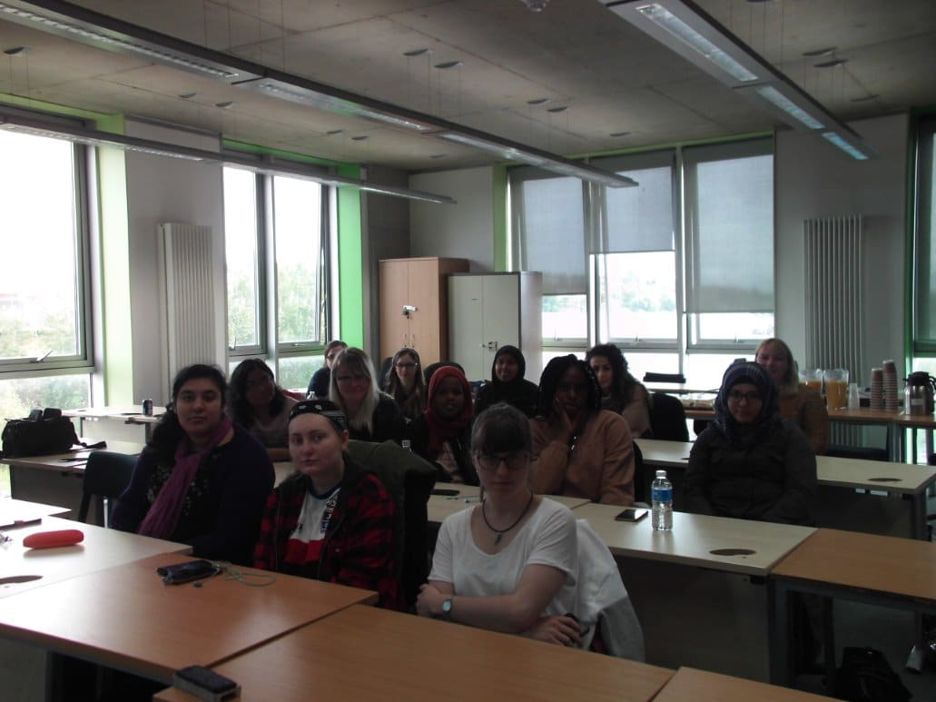 Female students at Ada Lovelace meeting