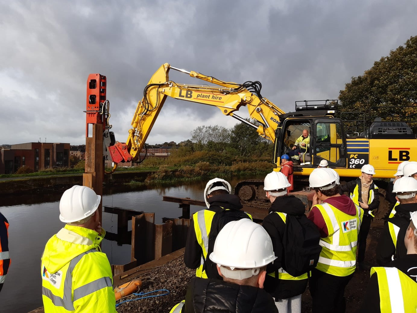 students at claypits site