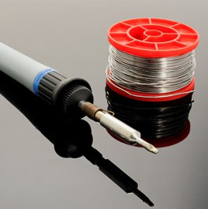 soldering iron and wire