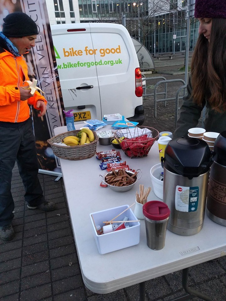 free breakfast treats at the event