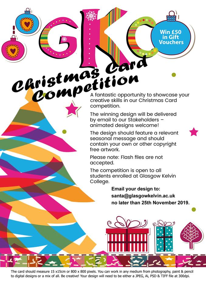 poster for Christmas Card competition