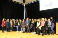 Group shot of everyone at the childcare seminar