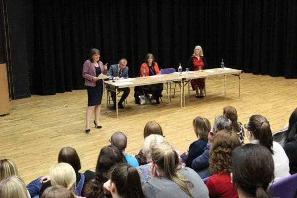 Minister for childcare giving talk