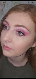 student with her make up done