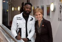 Courage Eregbu with the First Minister