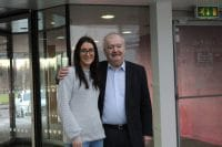 Sir Tom Devine with Lynsey McFarlane