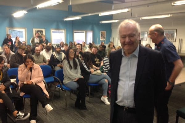 Sir Tom Devine with students
