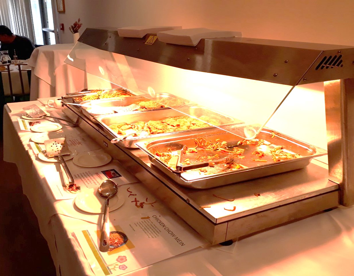 Trays of food at diversity week