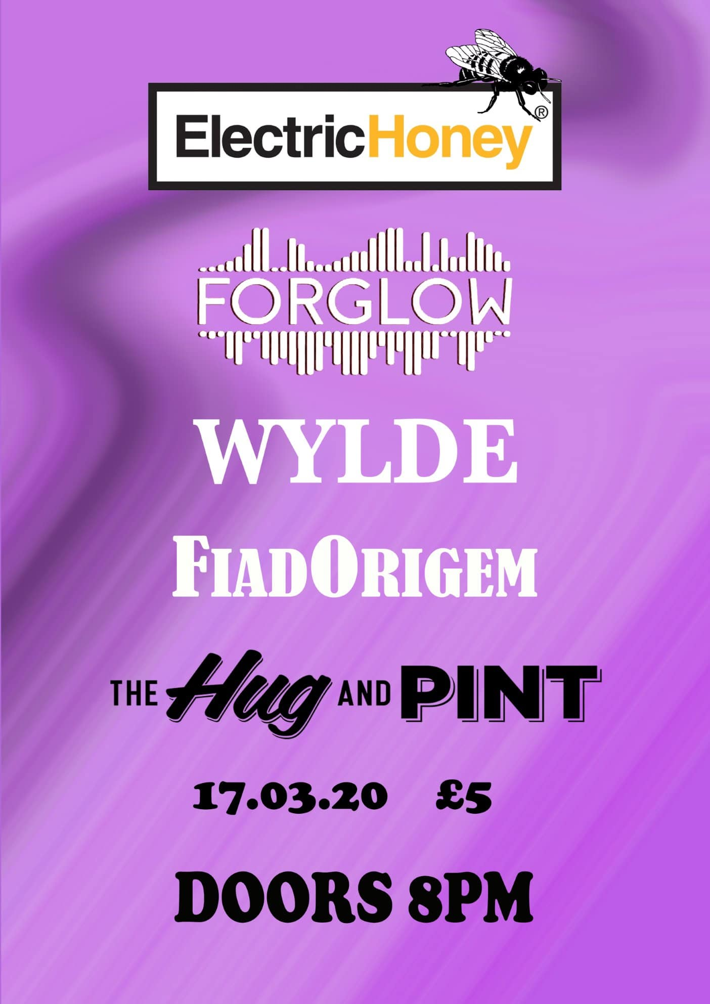 Poster for Electric Honey Showcase Gig