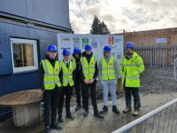 students on site visit