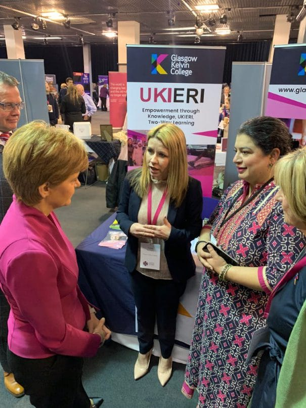 First Minister with GKC and UKEIRA representatives