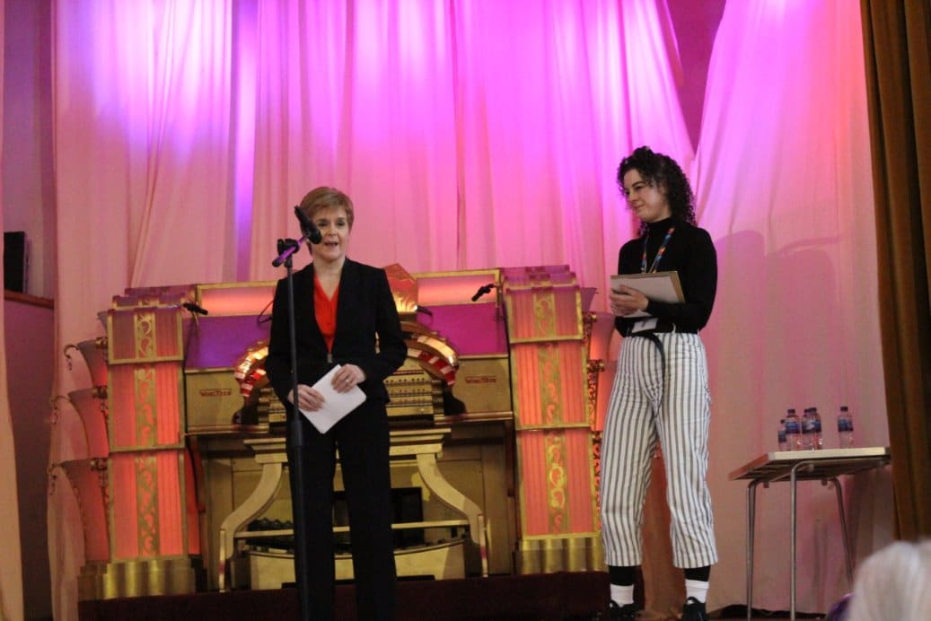 Nicola Sturgeon and Kirsty MacDonald