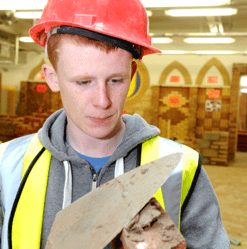 bricklaying student