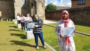 ESOL achievers with their awards