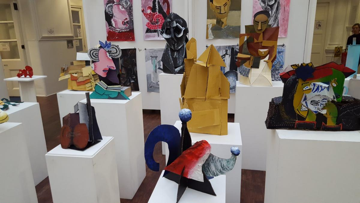 Variety of models and sculptures
