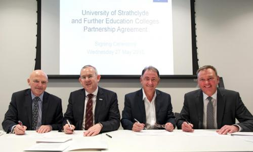 Signing, formal agreement with the Glasgow Colleges