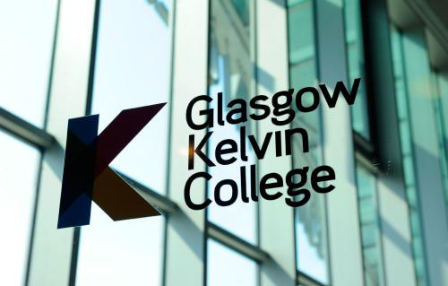 Glasgow Kelvin College Logo on Glass