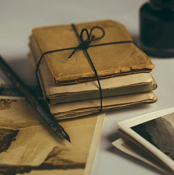 old books, photos and letters