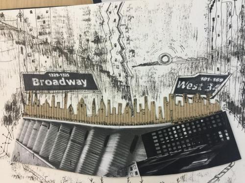 Graphic illustration of Broadway