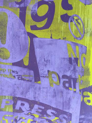 Poster in purple and yellow