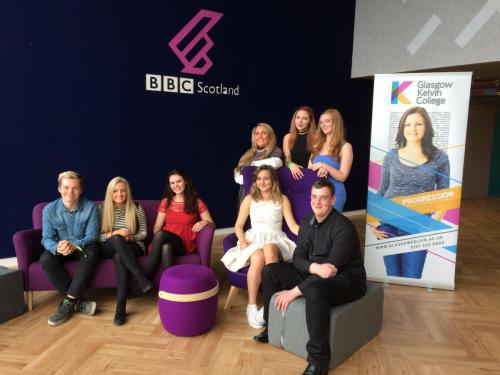 A group of this year's talented BBC Apprentice graduates are pictured at the event at Pacific Quay.