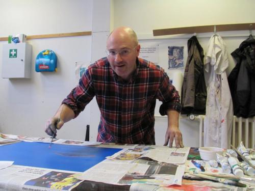 Ben Risk, guest Artist in Residence at the College